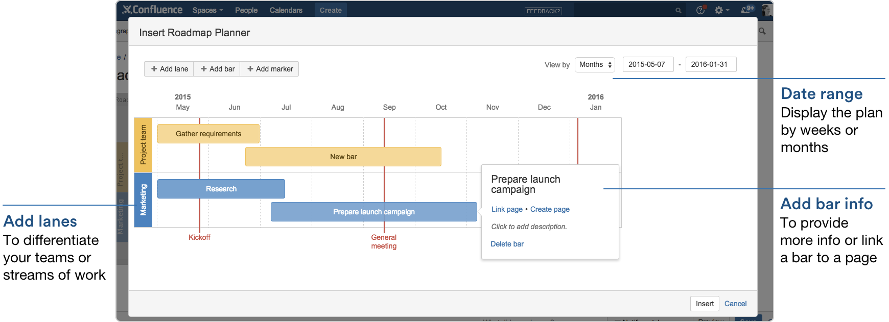 product review roadmap planner - Visio Confluence
