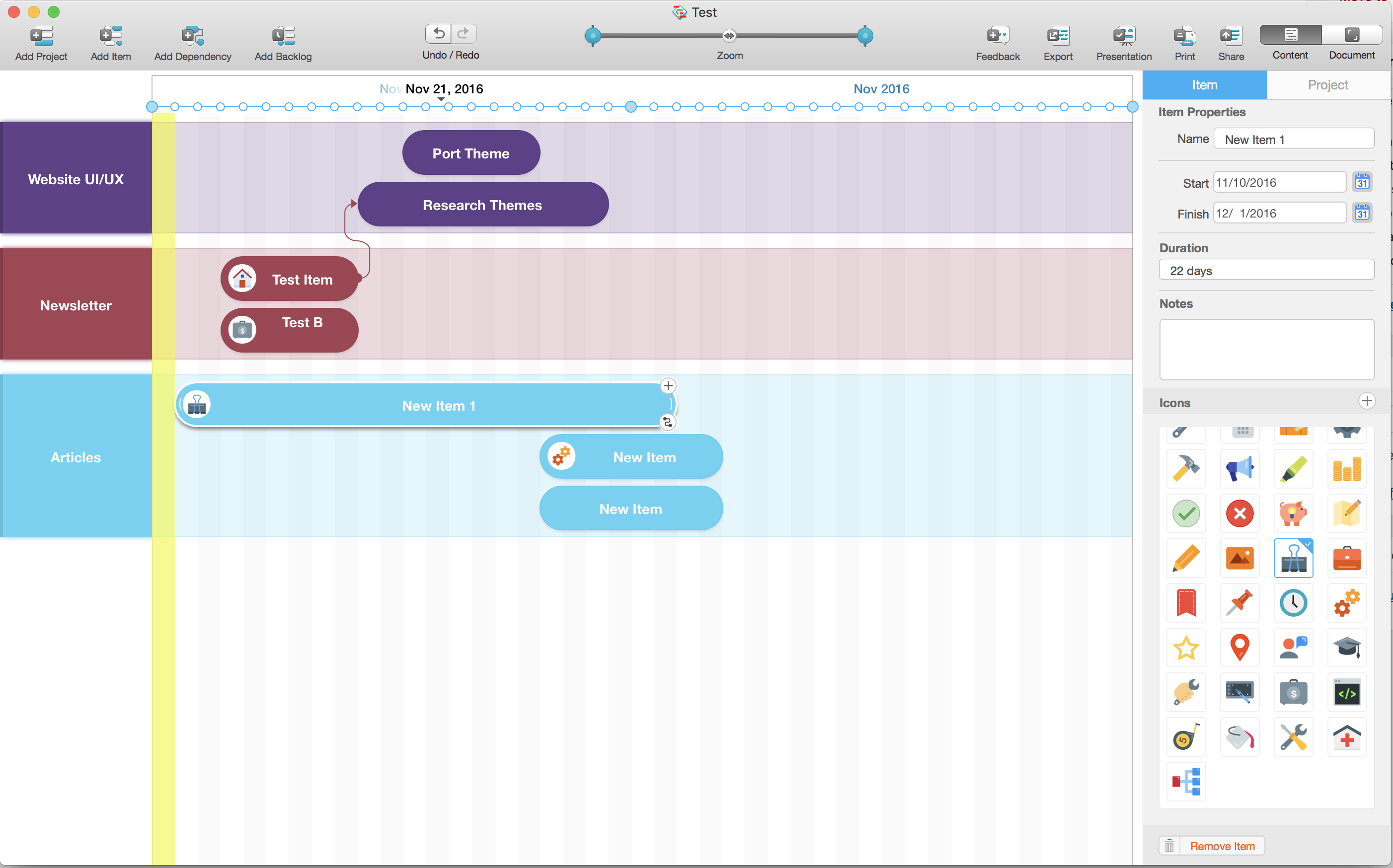roadmap planner planning screen